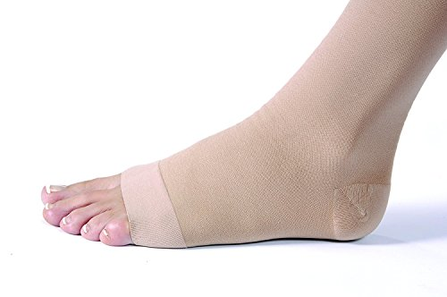 JOBST Relief Knee High 20-30 mmHg Compression Socks, Open Toe, Beige, Small by JOBST (Image #1)