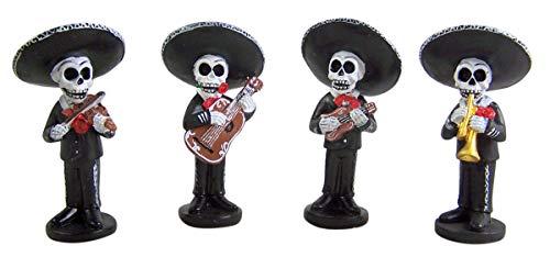 Mini Skeleton Mariachi Band 4 Inch (Set of -