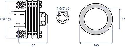 Saba embrague T60 FD 4 discos Ferodo diámetro 160 1 - 3/8Z 6 Articulación cardán para tractores cafeteras Agricole: Amazon.es: Bricolaje y herramientas