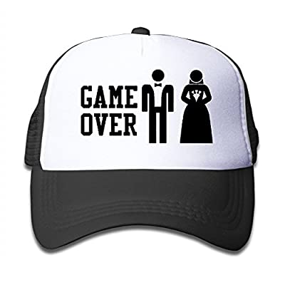 GAME OVER Funny Bachelor Party, Wedding Humor Unisex Mesh Hat Trucker Cap