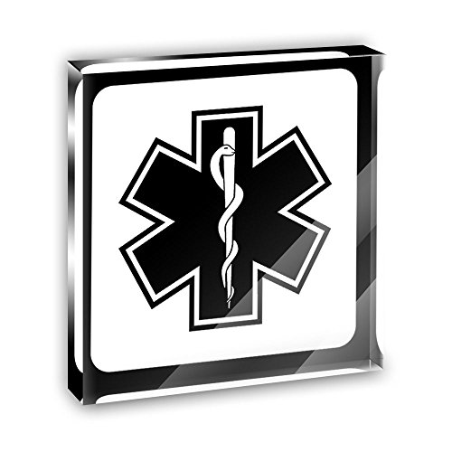 Star Acrylic Plaque - Star of Life Acrylic Office Mini Desk Plaque Ornament Paperweight