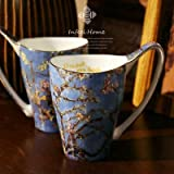 Tini Mugs Van Gogh Art Painting Coffee Mugs The Starry Night, Sunflowers, The Sower, Irises Saint-Remy Tea Cups Water Bottle 1 PCs