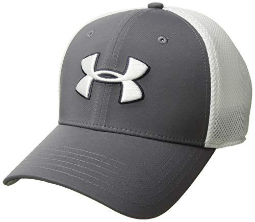 Under Armour Men's Microthread Golf Mesh Cap, Graphite (040)/White, Medium/Large (Under Armour Hats For Men)