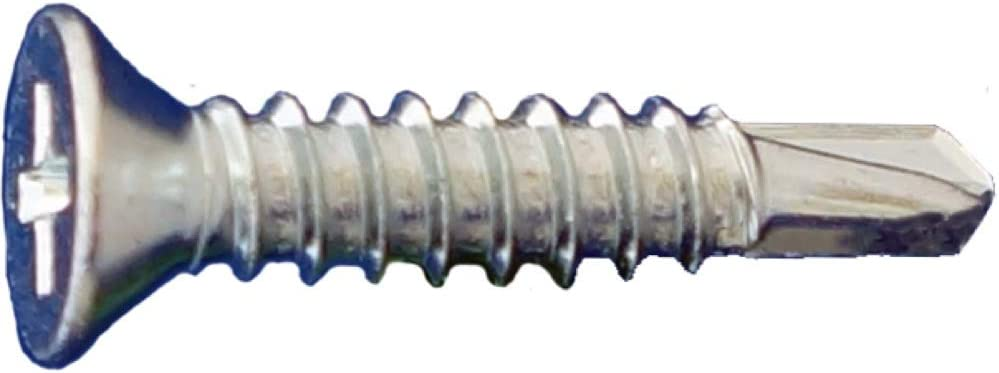 #8 x 1-1//2 Daggerz Phillips Flat Head Self Drill Screws Zinc 5000ct