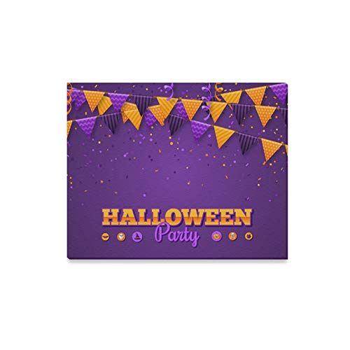 Wall Art Painting Halloween Carnival Flags Garlands Serpentine Prints On Canvas The Picture Landscape Pictures Oil for Home Modern Decoration Print Decor for Living -