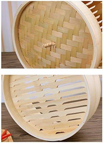 Vapeur en bambou, Méthode Ancienne - Plusieurs tailles - Fait à la main - Durable - Facile à nettoyer - Convient pour la cuisson à la vapeur de tous les aliments -,2floors,24cm