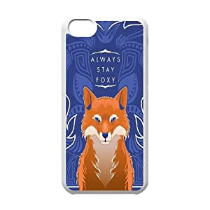 New Fashion Design Watercolor Fox Pattern Protective Hard Phone Cover Skin Case For Iphone 5c TPUKO-Q770036