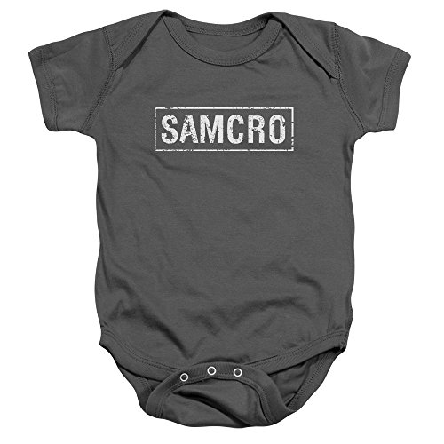 SAMCRO Distressed Logo -- Sons Of Anarchy Infant One-Piece Snapsuit, 24 Months