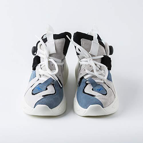 Autunno Casual Clunky Inverno Piattaforma Scarpe Donna Sneaker Blu da Scarpe Traspiranti Vansney Mesh Sportive 2018 Scarpe 5Bgqpw