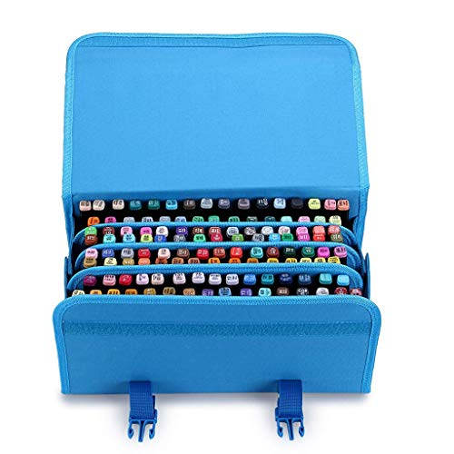 TOOGOO Marker 120 Holders Organizer Case Storage So On Fits from 15Mm to 22Mm Diameter Blue by TOOGOO (Image #2)