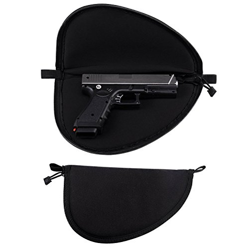 PRETTYGAGA Pistol Case- Gun Bags- Zippered Gun Carry Case- Pistol Rug with ample Storage Bag Locations, fits 3-4 Barrel Revolvers, 4-5 Barrel Large - Rifle Zippered Case