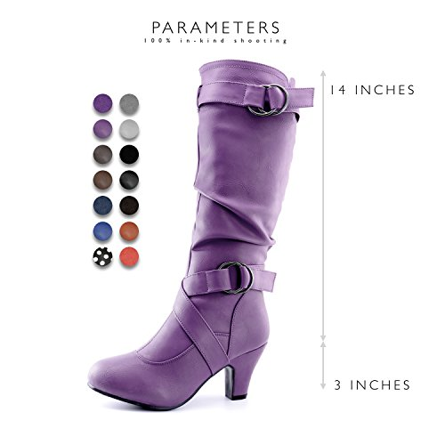 Heel Fashion Purple Straps DailyShoes Boots Mid Strappy Women's Top 2