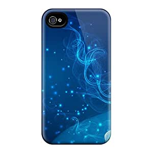 Cases For Iphone 6 With Blue Abstract Fractal
