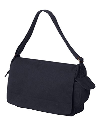 Tenacitee Born in 1985 - Aged Like a Fine Wine Navy Brushed Canvas Messenger Bag by Tenacitee (Image #1)