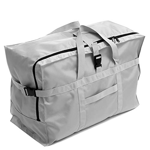 (Extra Large Travel Duffel Bag 28'',120L,Anti Theft Travel Tote Luggage Bag Checked Bag Black Oversized (silver))