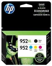 HP 952XL Black High-Yield & 952 Cyan Magenta Yellow Ink Cartridges 4-Pack N9K28AN