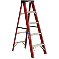 Werner 5-ft Fiberglass Type 2 225 lbs. Capacity Step Ladder Deals