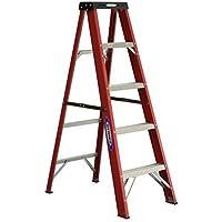 Lowes.com deals on Werner 5-ft Fiberglass Type 2 225 lbs. Capacity Step Ladder