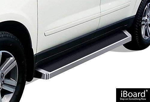 - iBoard Running Boards (Nerf Bars | Side Steps | Step Bars) for 2007-2017 Chevy Traverse & 2007-2016 GMC Acadia & 2007-2010 Saturn Outlook | (Silver Running Board Style)