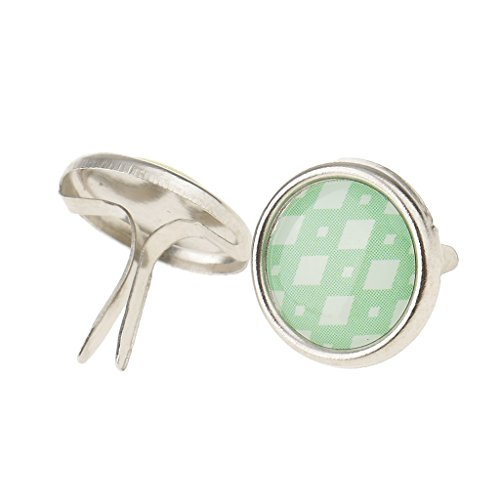 Jili Online 50 Pieces Metallic Mini Metal Brads Fastener for Scrapbooking Embellishment
