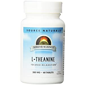 Source Naturals Serene Science L Theanine 200mg Anti Anxiety Supplement 60 Capsules
