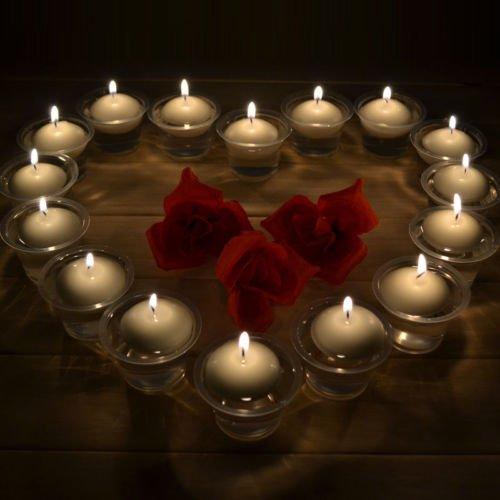 (Candle Decor - 10pcs Lot Pure Color Floating Candles Round Shape Candle Home Party Decoration Shipping Dia 3.5cm - Candles Disc Orange Aqua Turquoise Light Vases Shells Color Stem White)