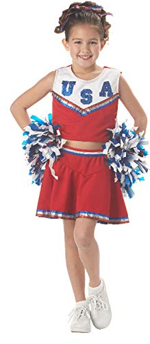 Patriotic Cheerleader Child -