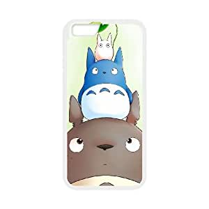 My Neighbor Totoro 002 iPhone 6 Plus 5.5 Inch Cell Phone Case White TPU Phone Case RV_620130