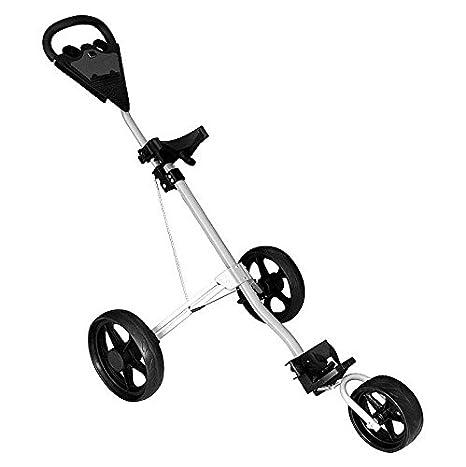 Carro de Golf Plegable 3 Big Wheels Golf Bag Trolley Push ...
