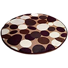 Sothread Non-slip Printed Carpet Mats Round Bath Bedroom Area Rug Decor Doormat 30x30cm (L)