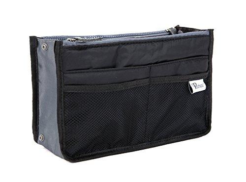 Periea Handbag Organiser, 12 Compartments - Chelsy (Black, Medium)