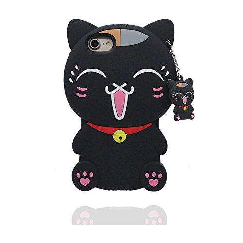 """iPhone 7 Coque, [ TPU Material Flexible 3D Cartoon chat Sweet ] élégant Étui pour iPhone 7 (4.7""""), Dust Slip Scratch Resistant, iPhone 7 Case et stylet"""