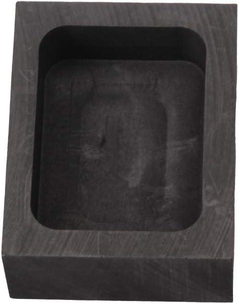 WEIEN Hohe Reinheit und Hohe Dichte Graphit-Gussform Barren Form Graphite Mold 30x24x12mm 50g Kapazit/ät