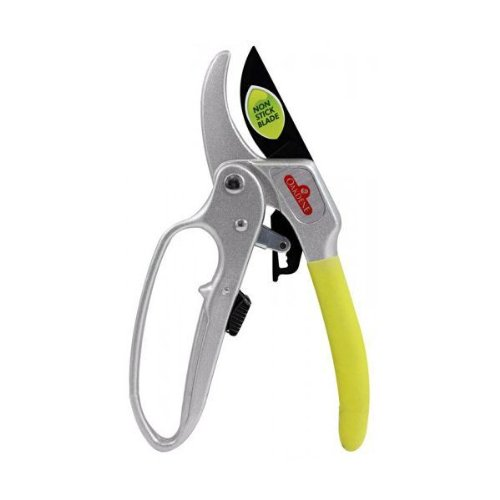 Oakdene 4 Stage Gear Ratchet Pruner/Secateurs/Shears with Easy Grip Ergonomic Handle for Cutting Garden Twigs,Branches,Bushes,Hedges,Trees,Plants and Bonsai