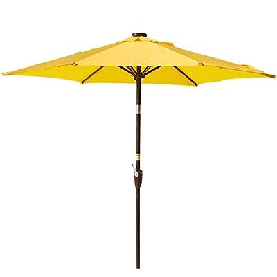 Sundale Outdoor 7.2 ft Patio Umbrella Table Market Umbrella with Push Button Tilt & Aluminum Pole, Polyester Canopy for Garden, Deck, Backyard, Pool (Yellow) : Garden & Outdoor