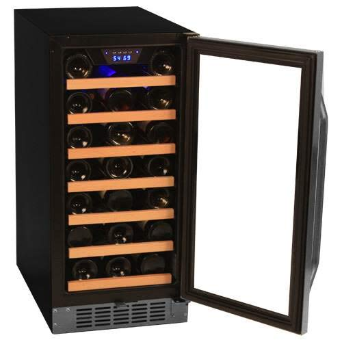 EdgeStar 30 Bottle Built-In Wine Cooler - Stainless Steel/Black