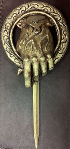 Antique Bronze Hand Of The King Metal Pin: Game Of Thrones