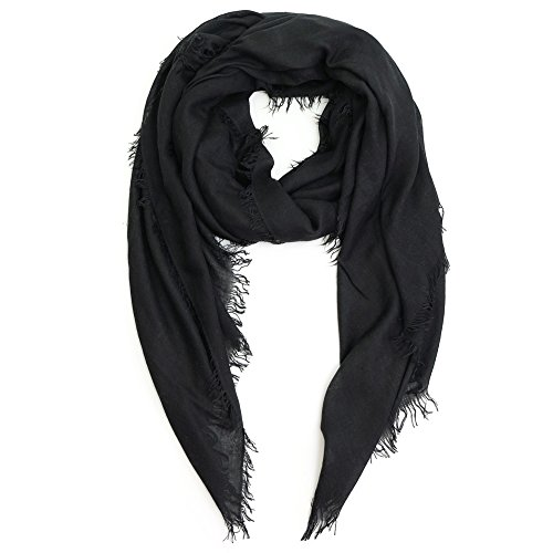 Scarves for Women: Lightweight Elegant Solid colors Fashion Scarf by MIMOSITO (Black) by MIMOSITO