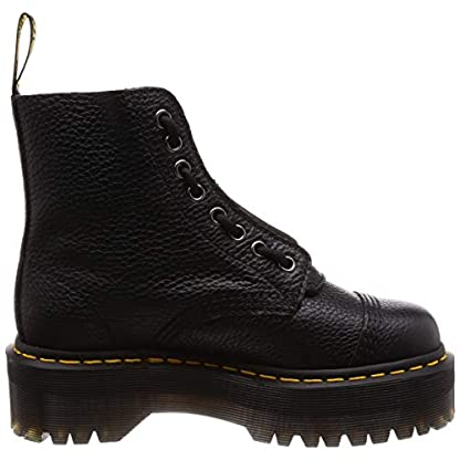 Dr. Martens Womens Sinclair Aunt Sally Black Zipper Closed Toe Ankle Boots 6