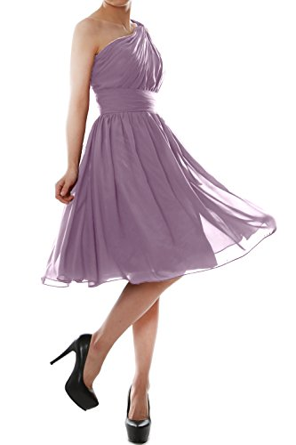MACloth Gown One Women Party Short Cocktail Dress Chiffon Bridesmaid Wisteria Shoulder ppHrqw