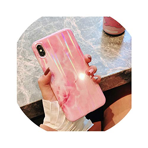 Luxury Laser Glossy Kickstand Holder Marble Phone Case for iPhone 7 8 Plus X 6 S Plus Soft Silicone Case for iPhone XR XS Max,Color A,for iPhone 6