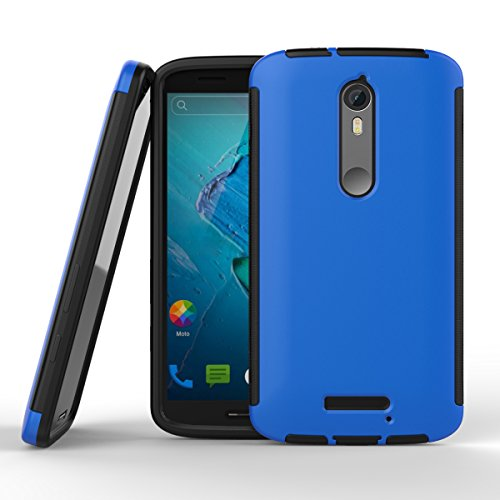 MOTO PLAY/MOTO X PLAY SHOCKPROOF CASE, Nue Design Cases - Motorola MOTO PLAY/MOTO X PLAY (2016 Model) Wrap Up TPU Cover Robot Shockproof Armor Case (BLUE)