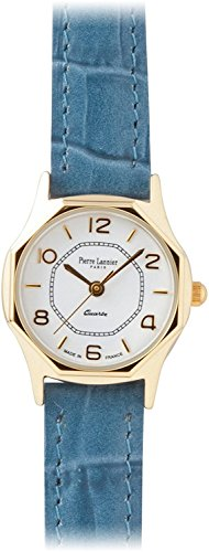 Press PIERRE LANNIER watch octagonal Watch Gold / Croco Blue P043504 C61 Ladies