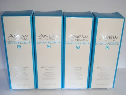 Lot of 4 Avon Anew Skinvincible Multi-Shield Lotion Travel Size .24 oz each