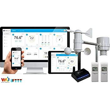 Ambient Weather WS-0900-IP Wireless Internet Remote Monitoring Weather Station, Compatible with Alexa