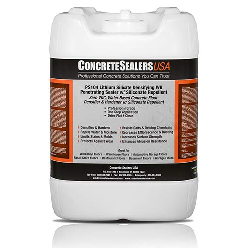PS104 Lithium Silicate Densifying WB Penetrating Sealer w/Siliconate Repellent 5 gal