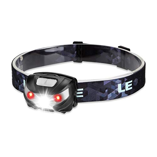 LED Rechargeable Headlamp, Headlights Flashlight with 5 Light Modes, Waterproof, Adjustable and Comfortable for kids and adults, Perfect for Running, Camping, Hiking and Outdoors, USB Cable Include
