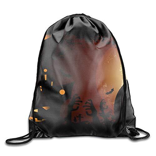 HBbaodingbdf Holiday Halloween Drawstring Drawstring Backpack for Adult Holiday Halloween2 -