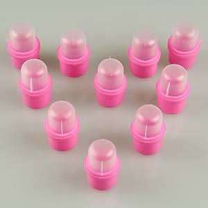 Desmontaje de acrílico de 10 piezas de uñas usable Soak maduradores del removedor del polaco DIY de acrílico UV Gel Cap Consejo Conjunto