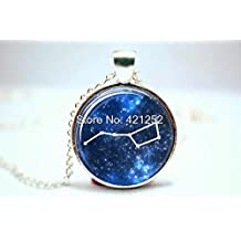Pretty Lee 2015 Fashion The Big Dipper Ursa Major Astronomy Jewelry Astronomy Pendant Glass Photo Cabochon Necklace Christmas gift